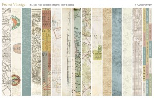 vintage map pocket strips