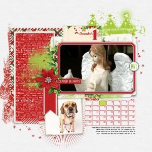 December Daily Scrapbook Album DesignerDigitals