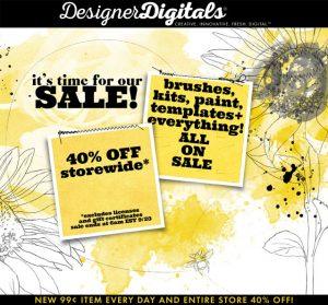 Digital Scrapbooking sale