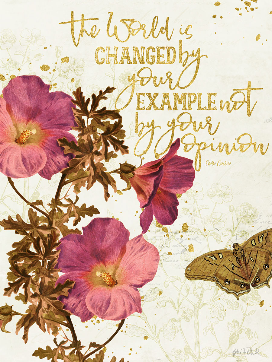 free 3x4 printable quote card with vintage botanicals for project life