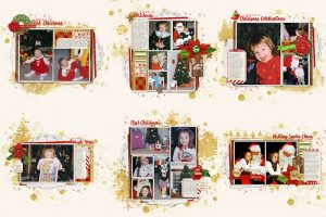 December Stories scrapbooking Christmas Past