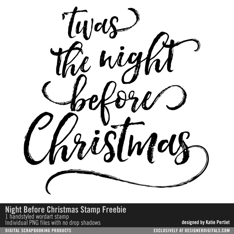 Night Before Christmas Scripted Handstyled Quote