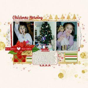 scrapbooking christmas morning memories in a series of december stories