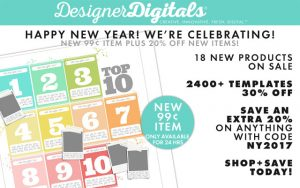 Layered Photoshop Template sale at DesignerDigitals.com