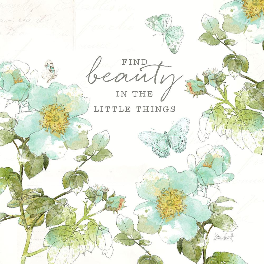 Katie Pertiet watercolor blue botanicals