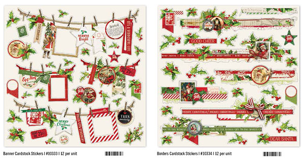 Katie Pertiet Simple Vintage Christmas Stickers
