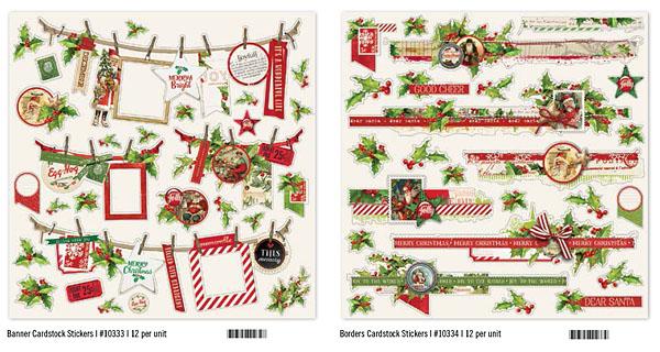 Katie Pertiet Simple Vintage Christmas Stickers