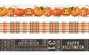 Katie Pertiet Simple Vintage Halloween Pumpkin Washi Tapes