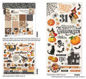 Katie Pertiet Simple Vintage Halloween Stickers