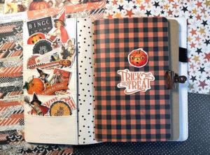 Katie Pertiet Simple Vintage Halloween Travelers Notebook