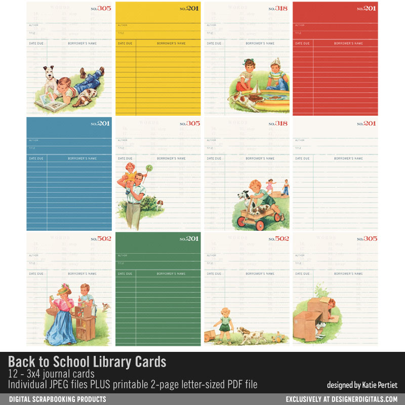 printable 3x4 library cards