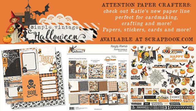 Simple Vintage Halloween Paper Craft
