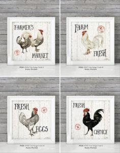 Farmhouse Style Chickens Wall Home Decor