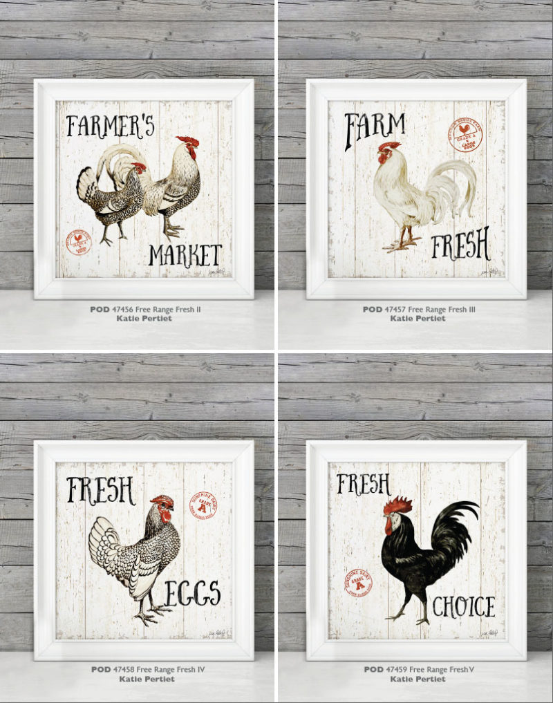 Farmhouse Style Chickens Wall Home Decor