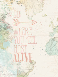 Painted map Travel Quote Katie Pertiet