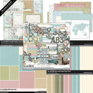 Travel Scrapbook Bundled Kit