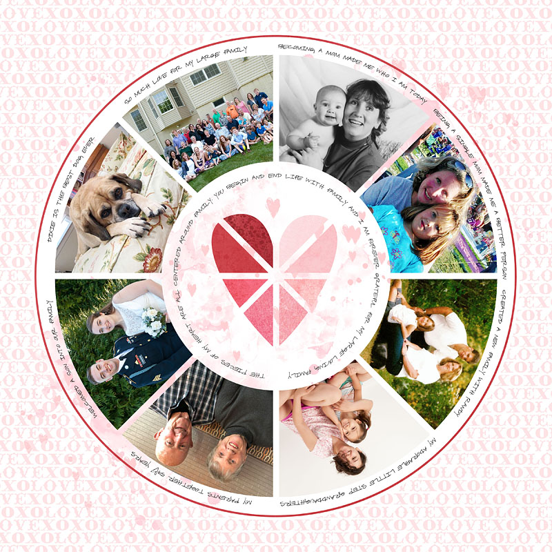 Charted Valentines Scrapbook page