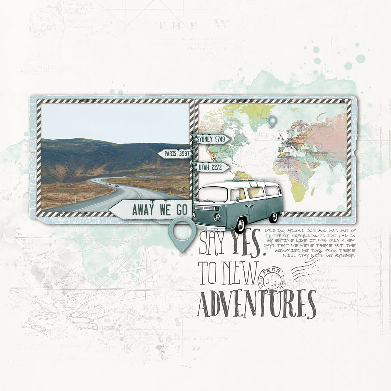 Iceland Travel Scrapbook Page