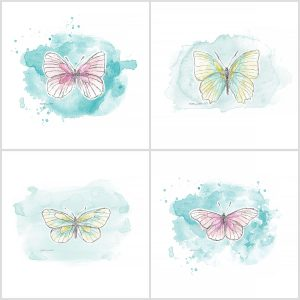 Katie Pertiet watercolor butterflies
