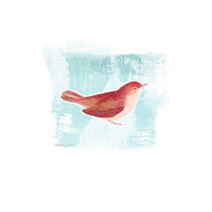 Katie Pertiet painted birds