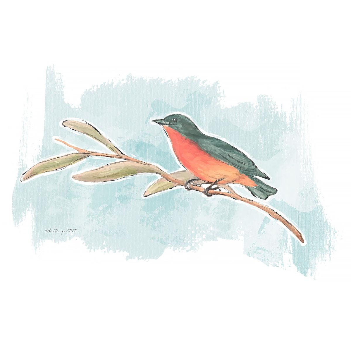 Katie Pertiet Bird Painting