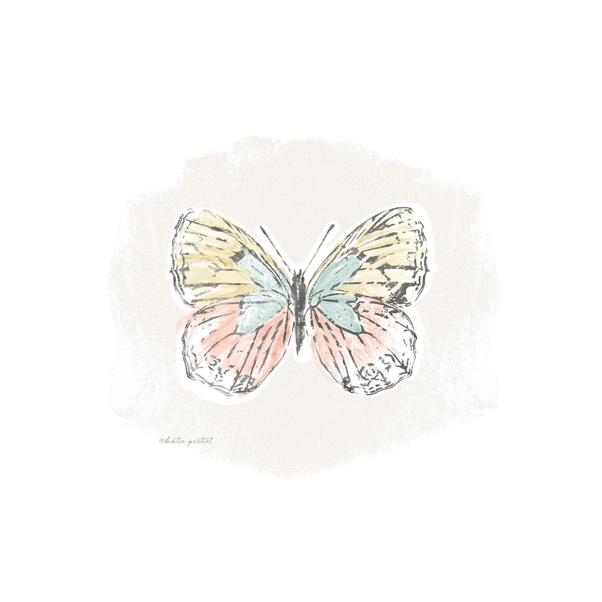Katie Pertiet 100 days Butterflies