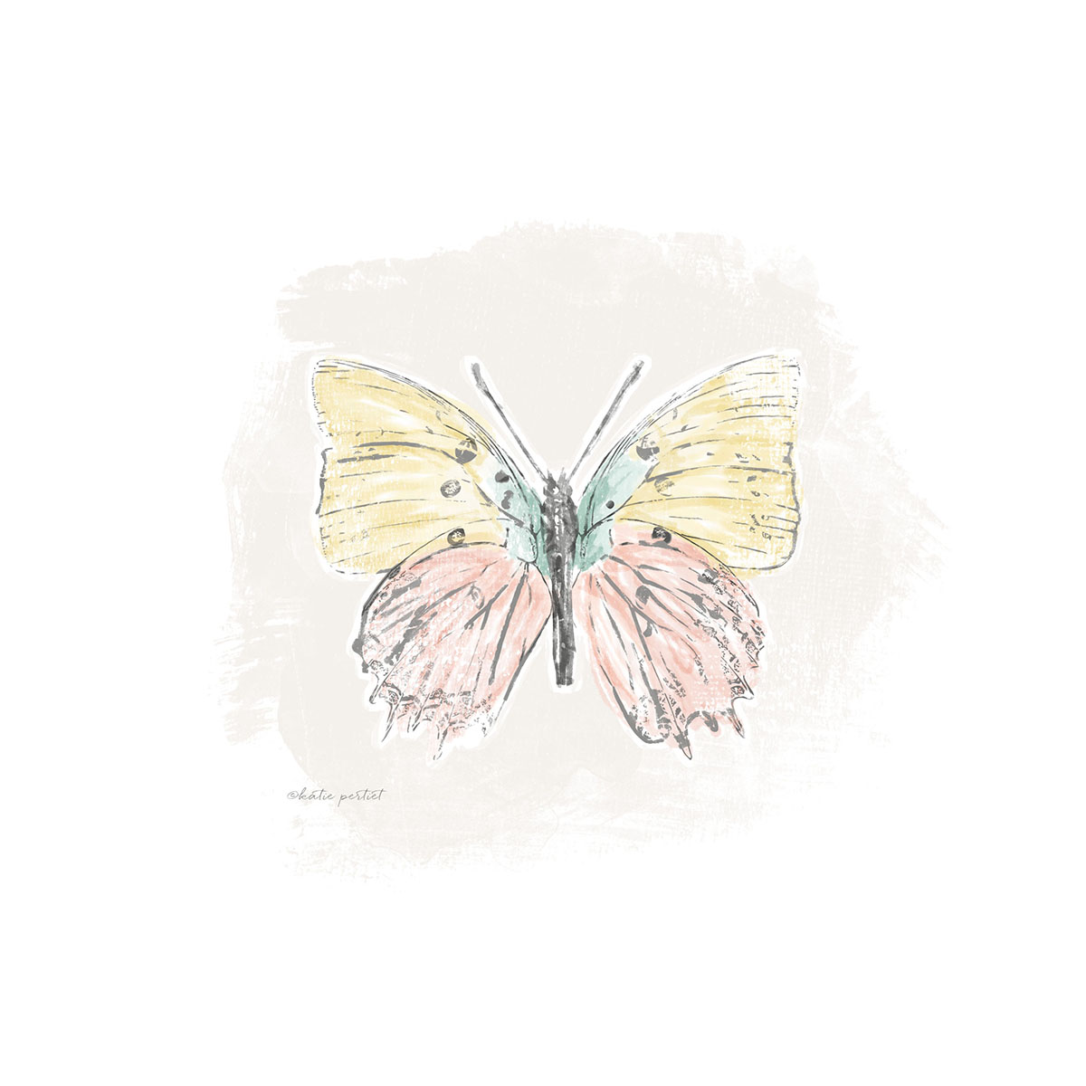Katie Pertiet Butterfly painting