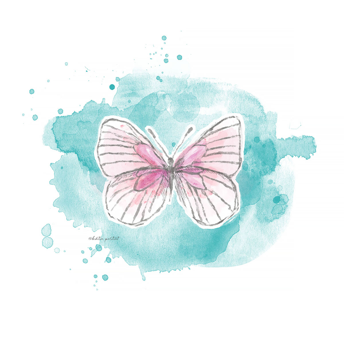 Katie Pertiet watercolor butterflies butterfly