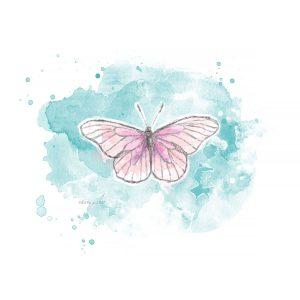 Katie Pertiet watercolor painted butterflies