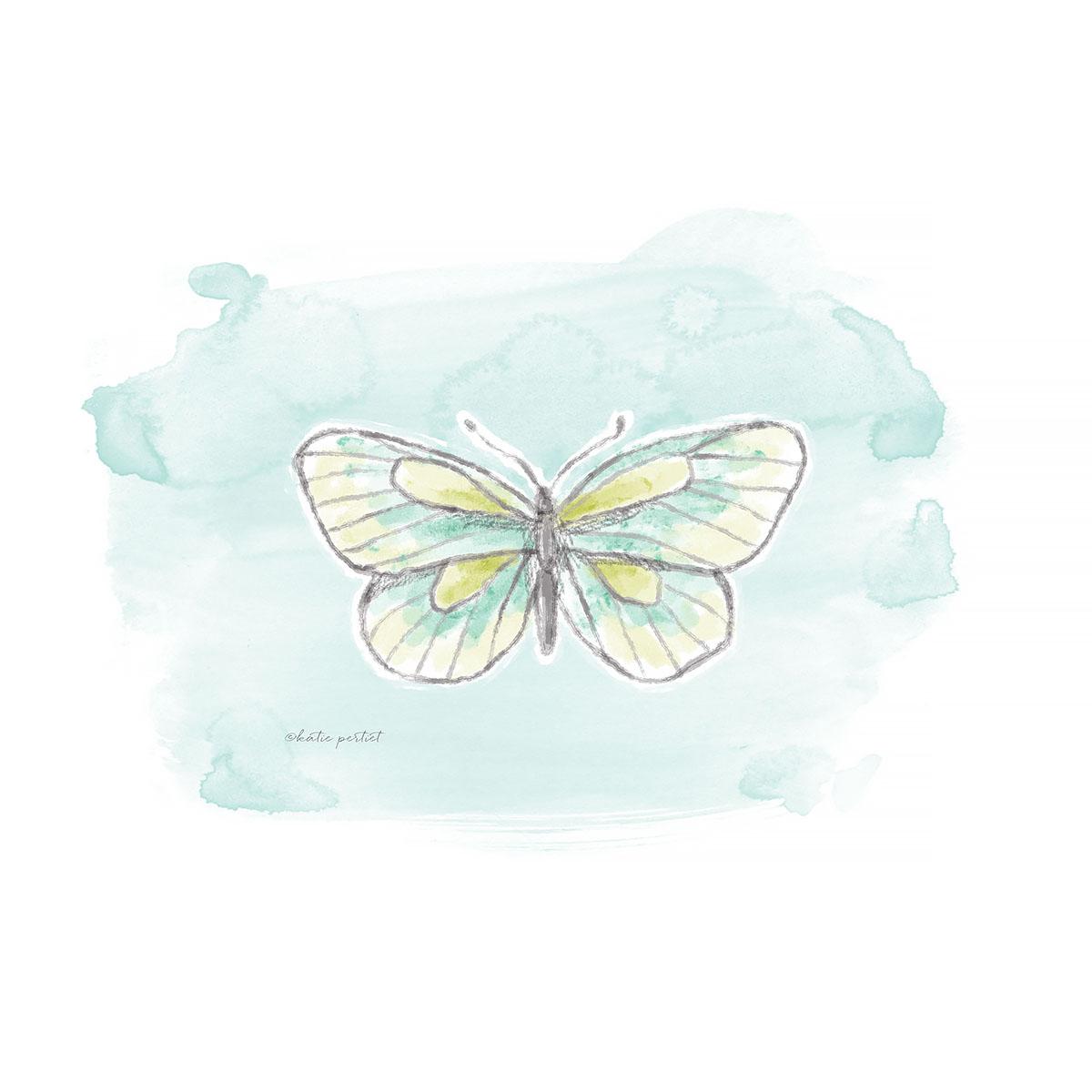 Katie Pertiet watercolor butterfly
