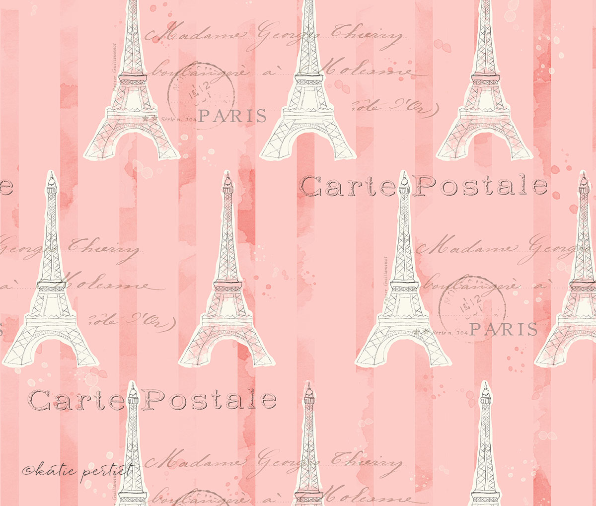 Katie Pertiet Lighthearted in Paris Eiffel Towel Pattern
