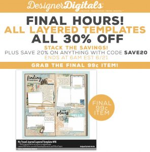 Photoshop Layered Templates for scrapbooking