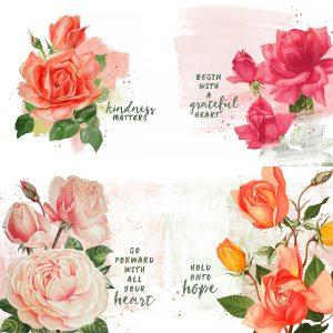 Katie Pertiet Painted Roses