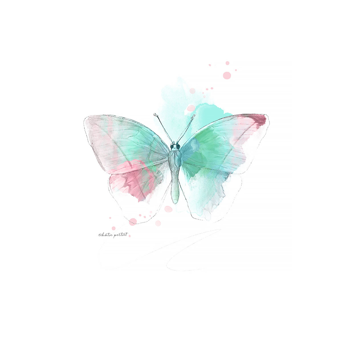Katie Pertiet Painted Butterfly