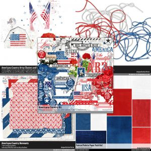americana country scrapbook kit