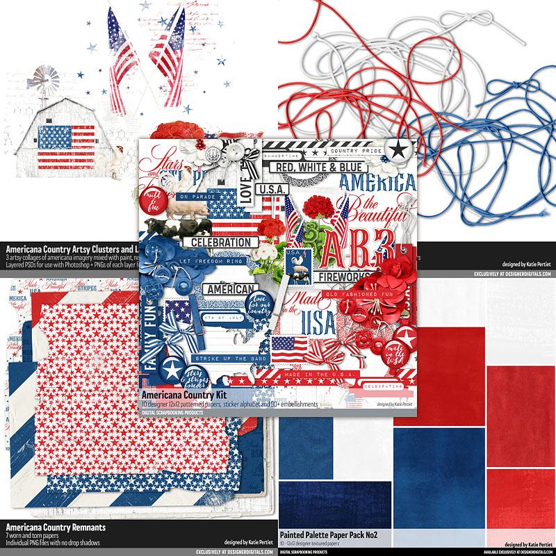 americana country scrapbook kit