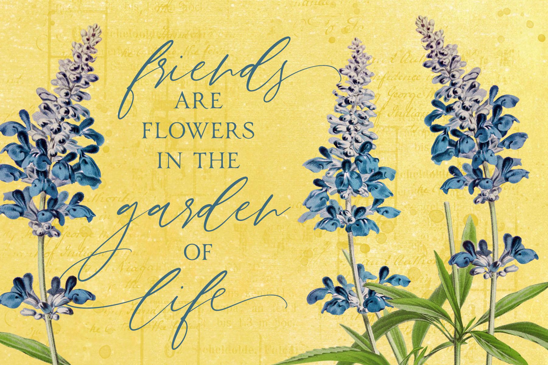 Katie Pertiet Vintage Botanicals Quote Card