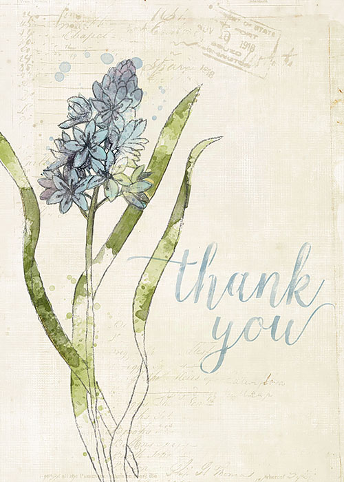 Katie Pertiet DIY Thank you card
