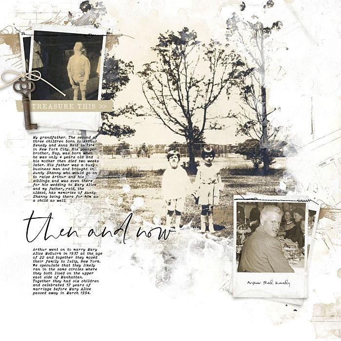 Katie Pertiet Family History Scrapbook Album
