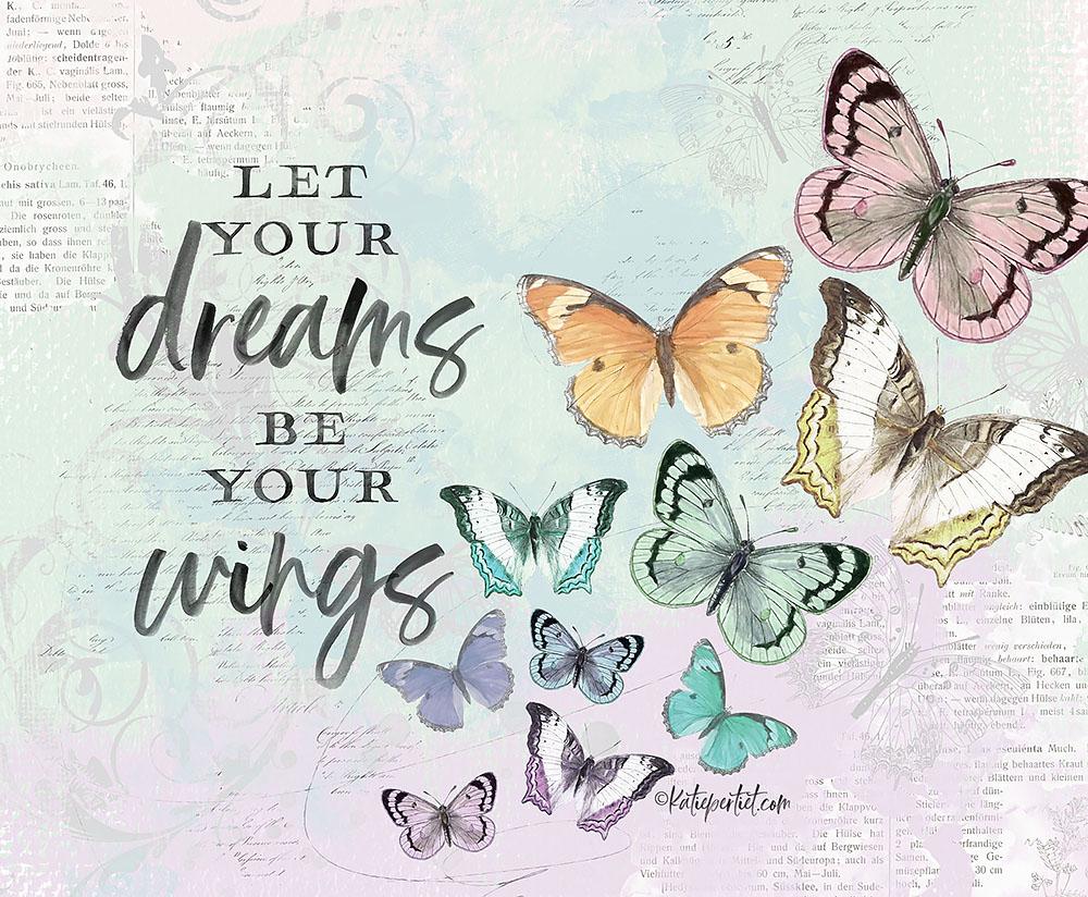 Katie Pertiet Vintage Butterfly Art
