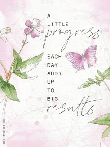 Katie Pertiet watercolor botanical quote card
