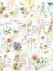 Katie Pertiet watercolor botanical quote cards