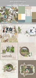 Katie Pertiet Hiking Scrapbooking Kit Vintage Woodlands