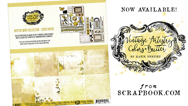 Katie Pertiet Vintage Artistry Papers and stickers