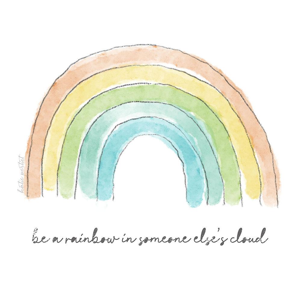 Katie Pertiet Watercolor Rainbow