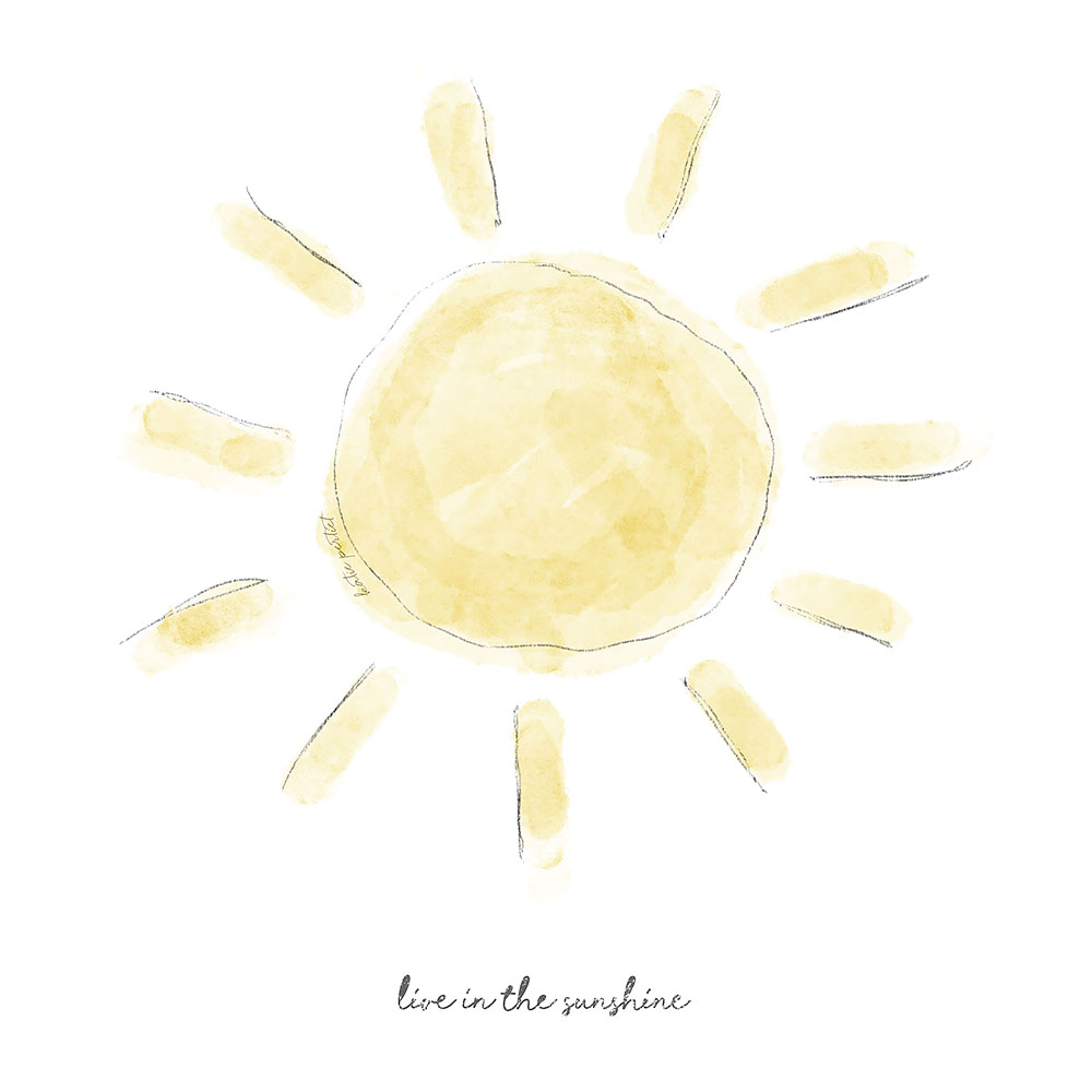 Katie Pertiet Watercolor Sunshine