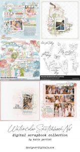 Katie Pertiet Digital Scrapbook Kits