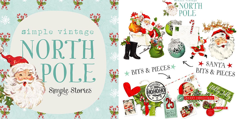 North Pole Santa Christmas Scrapbook