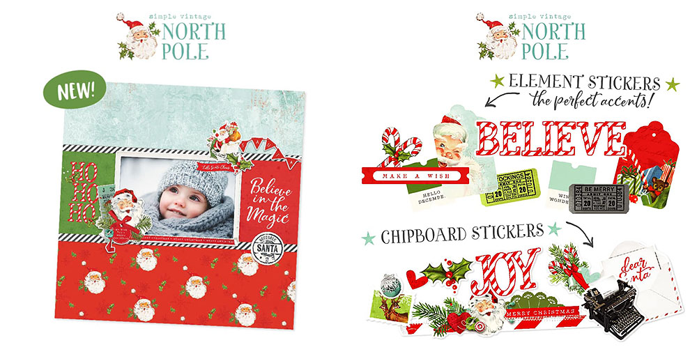 North Pole Santa Scrapbook Collection