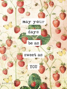 Strawberry Fields Vintage Card